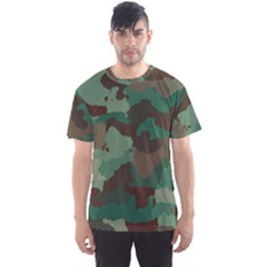 Camouflage Pattern A Completely Seamless Tile Able Background Design Men s Sport Mesh Tee