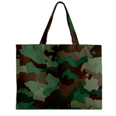 Camouflage Pattern A Completely Seamless Tile Able Background Design Mini Tote Bag