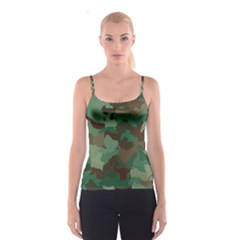Camouflage Pattern A Completely Seamless Tile Able Background Design Spaghetti Strap Top