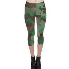 Camouflage Pattern A Completely Seamless Tile Able Background Design Capri Leggings