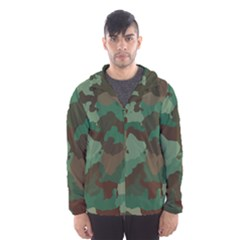 Camouflage Pattern A Completely Seamless Tile Able Background Design Hooded Wind Breaker (men)