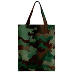 Camouflage Pattern A Completely Seamless Tile Able Background Design Zipper Classic Tote Bag