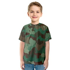 Camouflage Pattern A Completely Seamless Tile Able Background Design Kids  Sport Mesh Tee