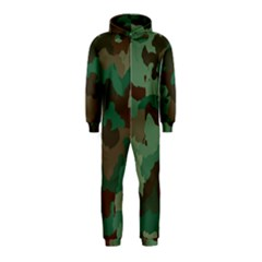 Camouflage Pattern A Completely Seamless Tile Able Background Design Hooded Jumpsuit (Kids)