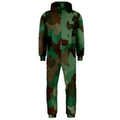 Camouflage Pattern A Completely Seamless Tile Able Background Design Hooded Jumpsuit (Men)