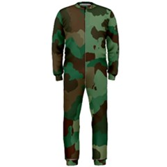 Camouflage Pattern A Completely Seamless Tile Able Background Design OnePiece Jumpsuit (Men)