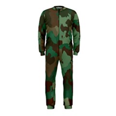 Camouflage Pattern A Completely Seamless Tile Able Background Design OnePiece Jumpsuit (Kids)