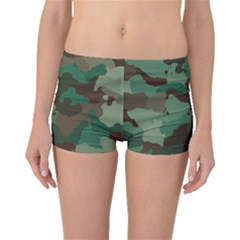 Camouflage Pattern A Completely Seamless Tile Able Background Design Boyleg Bikini Bottoms
