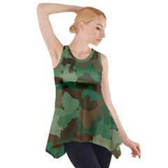 Camouflage Pattern A Completely Seamless Tile Able Background Design Side Drop Tank Tunic