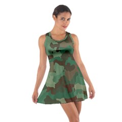 Camouflage Pattern A Completely Seamless Tile Able Background Design Cotton Racerback Dress