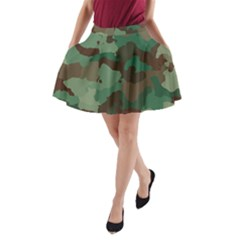 Camouflage Pattern A Completely Seamless Tile Able Background Design A Line Pocket Skirt
