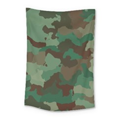 Camouflage Pattern A Completely Seamless Tile Able Background Design Small Tapestry