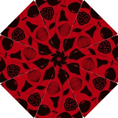 Congregation Of Floral Shades Pattern Hook Handle Umbrellas (small)
