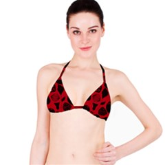 Congregation Of Floral Shades Pattern Bikini Top