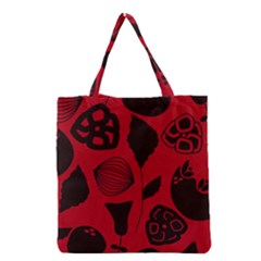 Congregation Of Floral Shades Pattern Grocery Tote Bag