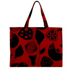 Congregation Of Floral Shades Pattern Mini Tote Bag