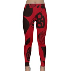 Congregation Of Floral Shades Pattern Classic Yoga Leggings