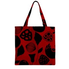 Congregation Of Floral Shades Pattern Zipper Grocery Tote Bag