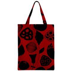 Congregation Of Floral Shades Pattern Zipper Classic Tote Bag