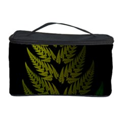 Drawing Of A Fractal Fern On Black Cosmetic Storage Case
