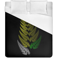 Drawing Of A Fractal Fern On Black Duvet Cover (california King Size)