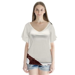 Greeting Card Coffee Mood Flutter Sleeve Top