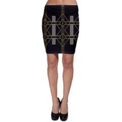Simple Art Deco Style  Bodycon Skirt