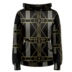 Simple Art Deco Style  Women s Pullover Hoodie