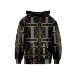 Simple Art Deco Style  Kids  Zipper Hoodie
