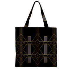 Simple Art Deco Style  Zipper Grocery Tote Bag