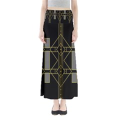 Simple Art Deco Style  Maxi Skirts
