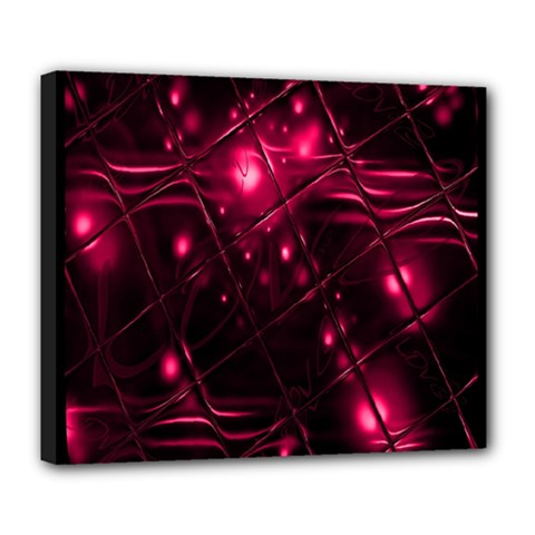 Picture Of Love In Magenta Declaration Of Love Deluxe Canvas 24  x 20
