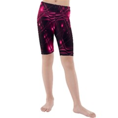 Picture Of Love In Magenta Declaration Of Love Kids  Mid Length Swim Shorts