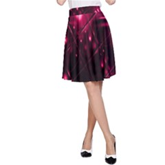 Picture Of Love In Magenta Declaration Of Love A-Line Skirt