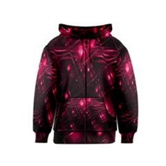 Picture Of Love In Magenta Declaration Of Love Kids  Zipper Hoodie