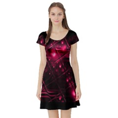 Picture Of Love In Magenta Declaration Of Love Short Sleeve Skater Dress