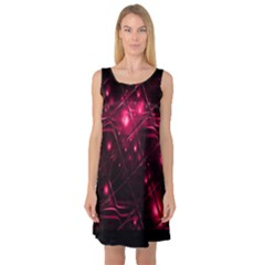 Picture Of Love In Magenta Declaration Of Love Sleeveless Satin Nightdress