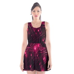 Picture Of Love In Magenta Declaration Of Love Scoop Neck Skater Dress