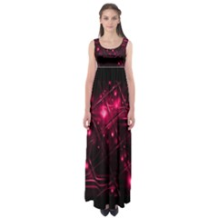 Picture Of Love In Magenta Declaration Of Love Empire Waist Maxi Dress