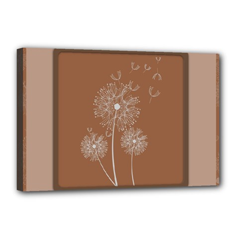 Dandelion Frame Card Template For Scrapbooking Canvas 18  X 12