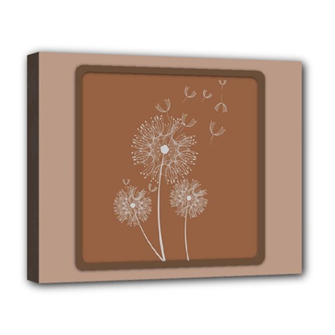 Dandelion Frame Card Template For Scrapbooking Deluxe Canvas 20  x 16