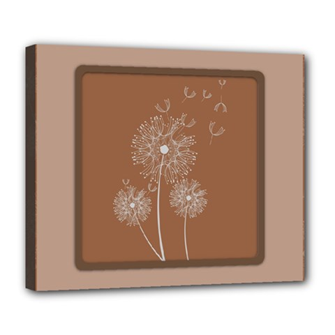 Dandelion Frame Card Template For Scrapbooking Deluxe Canvas 24  x 20