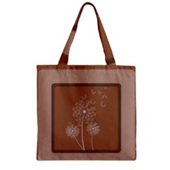 Dandelion Frame Card Template For Scrapbooking Zipper Grocery Tote Bag