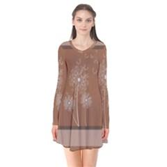 Dandelion Frame Card Template For Scrapbooking Flare Dress