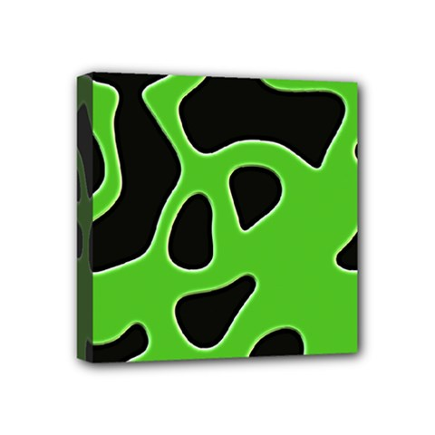 Black Green Abstract Shapes A Completely Seamless Tile Able Background Mini Canvas 4  X 4