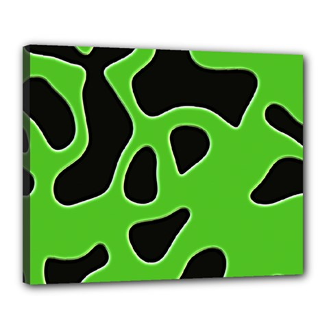 Black Green Abstract Shapes A Completely Seamless Tile Able Background Canvas 20  X 16