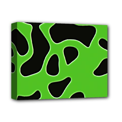 Black Green Abstract Shapes A Completely Seamless Tile Able Background Deluxe Canvas 14  x 11