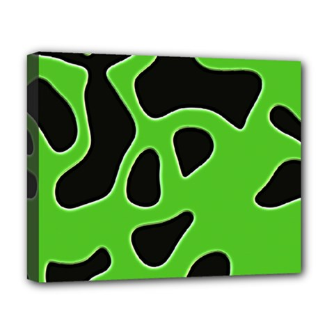Black Green Abstract Shapes A Completely Seamless Tile Able Background Deluxe Canvas 20  x 16