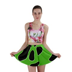 Black Green Abstract Shapes A Completely Seamless Tile Able Background Mini Skirt
