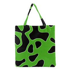 Black Green Abstract Shapes A Completely Seamless Tile Able Background Grocery Tote Bag